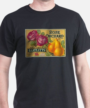 Rose Orchard Pear - Vintage Crate Label T-Shirt