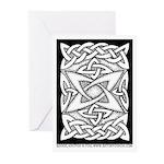 Celtic Knotwork Quasar Greeting Cards (10)