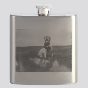 Cheyenne Indian on Horseback Flask
