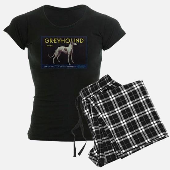 Greyhound Lemon - Vintage Crate Label Pajamas