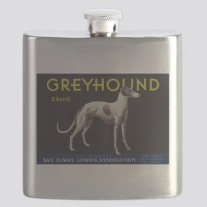 Greyhound Lemon - Vintage Crate Label Flask