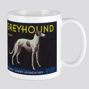 Greyhound Lemon - Vintage Crate Label Mugs