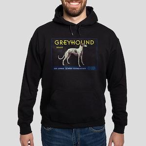 Greyhound Lemon - Vintage Crate Label Hoodie