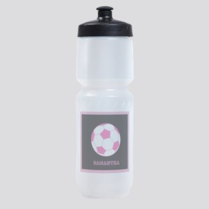 Pink Soccer Ball Sports Bottle