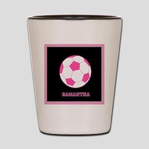 Pink Soccer Ball Shot Glass