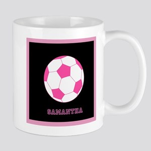 Pink Soccer Ball Mugs