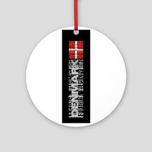 Black flag Ornament (Round)
