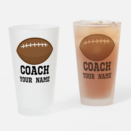 Personalized Football Coach Drinking Glass