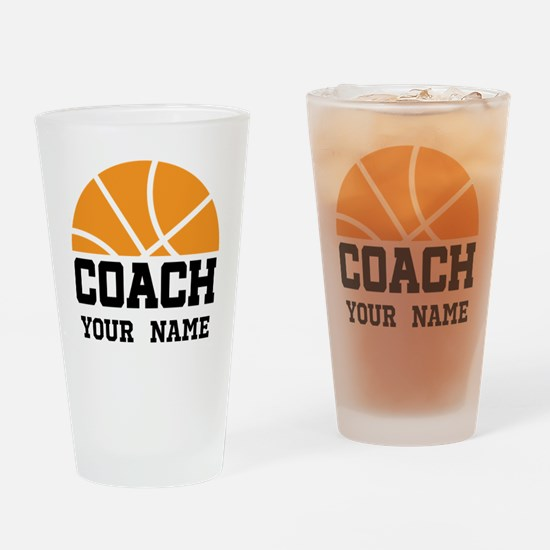 Personalized Basketball Coach Drinking Glass