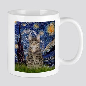 Starry Night & Tiger Cat Stainless Steel Travel Mu
