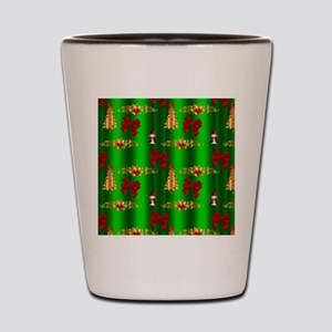 Red and Green Christmas Shot Glass