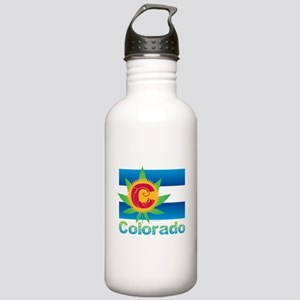 Colorado Marijuana Fla Stainless Water Bottle 1.0L