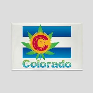 Colorado Marijuana Flag Magnets