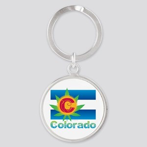 Colorado Marijuana Flag Keychains