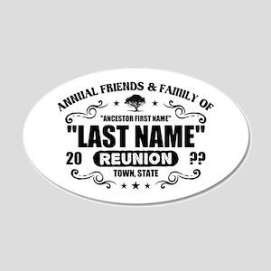 Custom Family Reunion 20x12 Oval Wall Decal