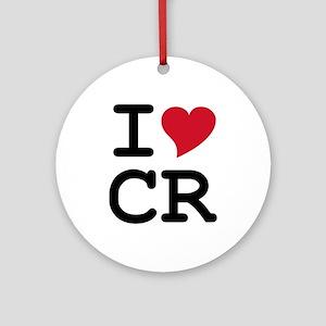 Costa Rica Heart Ornament (Round)