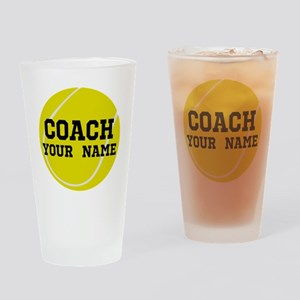 Tennis Coach Personalized Drinking Glass
