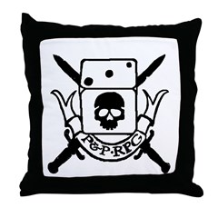 P&P RPG Crest! Throw Pillow