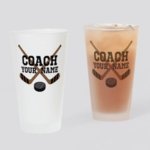 Hockey Coach Personalized Drinking Glass