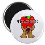 Teachers Apple Bear Magnet