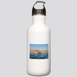 Houseboat making waves Stainless Water Bottle 1.0L