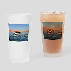 Houseboat making waves, Lake Powell Drinking Glass