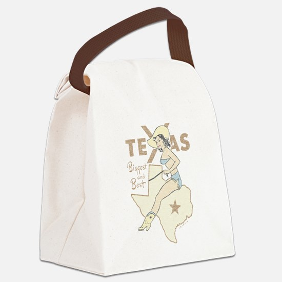 Faded Texas Pinup Canvas Lunch Bag