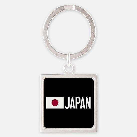 Japan: Japanese Flag & Japan Square Keychain