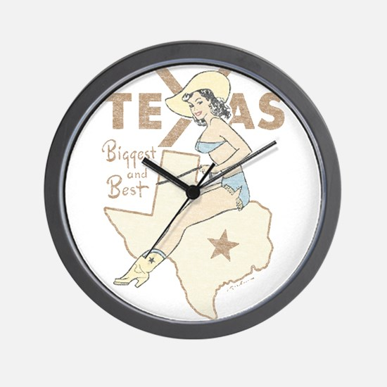 Faded Texas Pinup Wall Clock