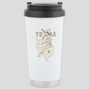 Faded Texas Pinup Stainless Steel Travel Mug