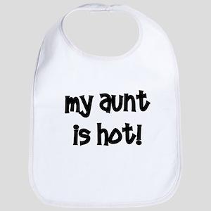 My Aunt Is Hot!  black Bib