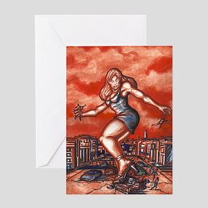 Gia Giantess Greeting Card