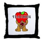 Teachers Apple Bear Throw Pillow