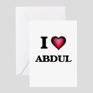 I love Abdul Greeting Cards