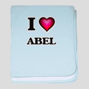 I love Abel baby blanket