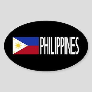 Philippines: Filipino Flag & Philip Sticker (Oval)