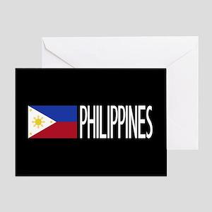 Philippines: Filipino Flag & Philipi Greeting Card