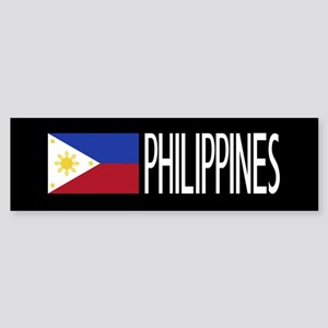 Philippines: Filipino Flag & Phil Sticker (Bumper)