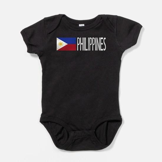 Philippines: Filipino Flag & Philipi Baby Bodysuit