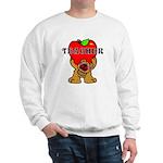 Teachers Apple Bear Sweatshirt