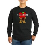 Teachers Apple Bear Long Sleeve Dark T-Shirt