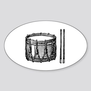 Snare Drum & Sticks Oval Sticker