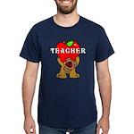 Teachers Apple Bear Dark T-Shirt