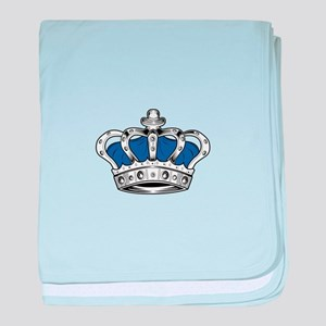 Crown - Blue baby blanket