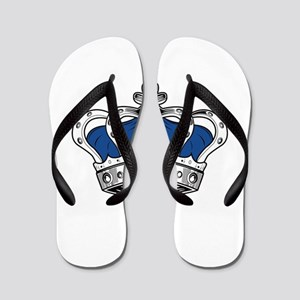Crown - Blue Flip Flops
