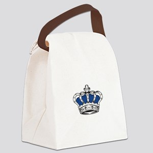 Crown - Blue Canvas Lunch Bag