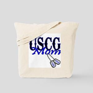 USCG Mom Dog Tag Tote Bag