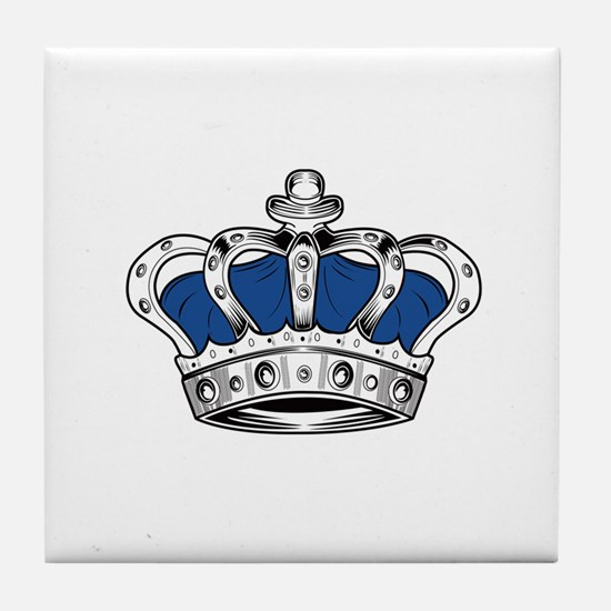 Crown - Blue Tile Coaster