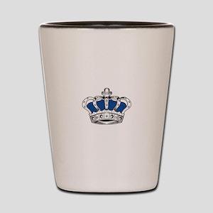 Crown - Blue Shot Glass
