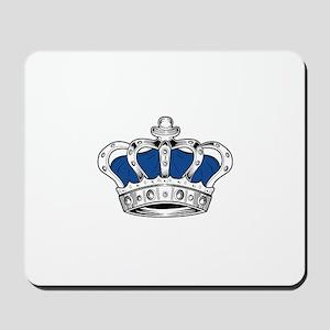 Crown - Blue Mousepad